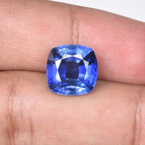 11.00 Ct Natural Ceylon Cornflower Blue Sapphire Square Cut Loose Certified Gems