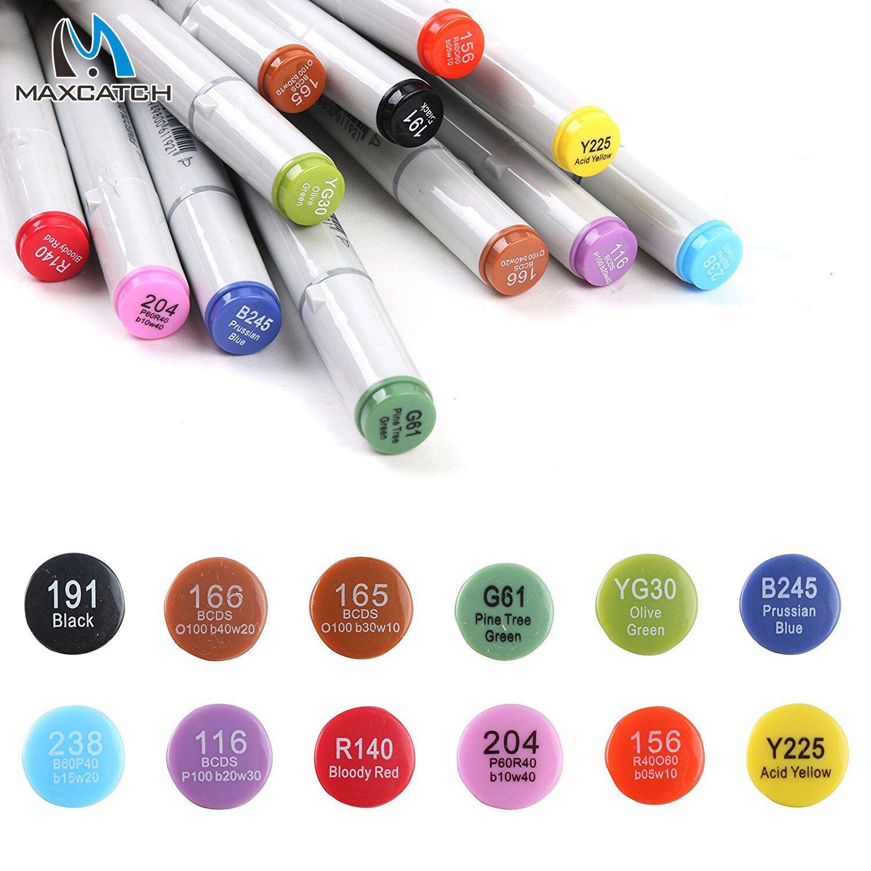 12 pcs Fly Tying Double Head Permanent Waterproof Marker Pen Fly Fishing Drawing