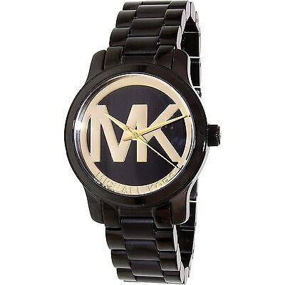 Michael Kors Women's Runway MK6057 Black Stainless-Steel Quartz Fashion Watch
