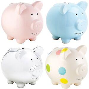 Pearhead Extra Large Ceramic Piggy Bank Money Box Pig