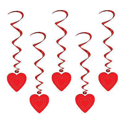 Valentine's Day Party Decorations (VALENTINE'S DAY Alice In Wonderland Party Decoration Hanging Red HEART)