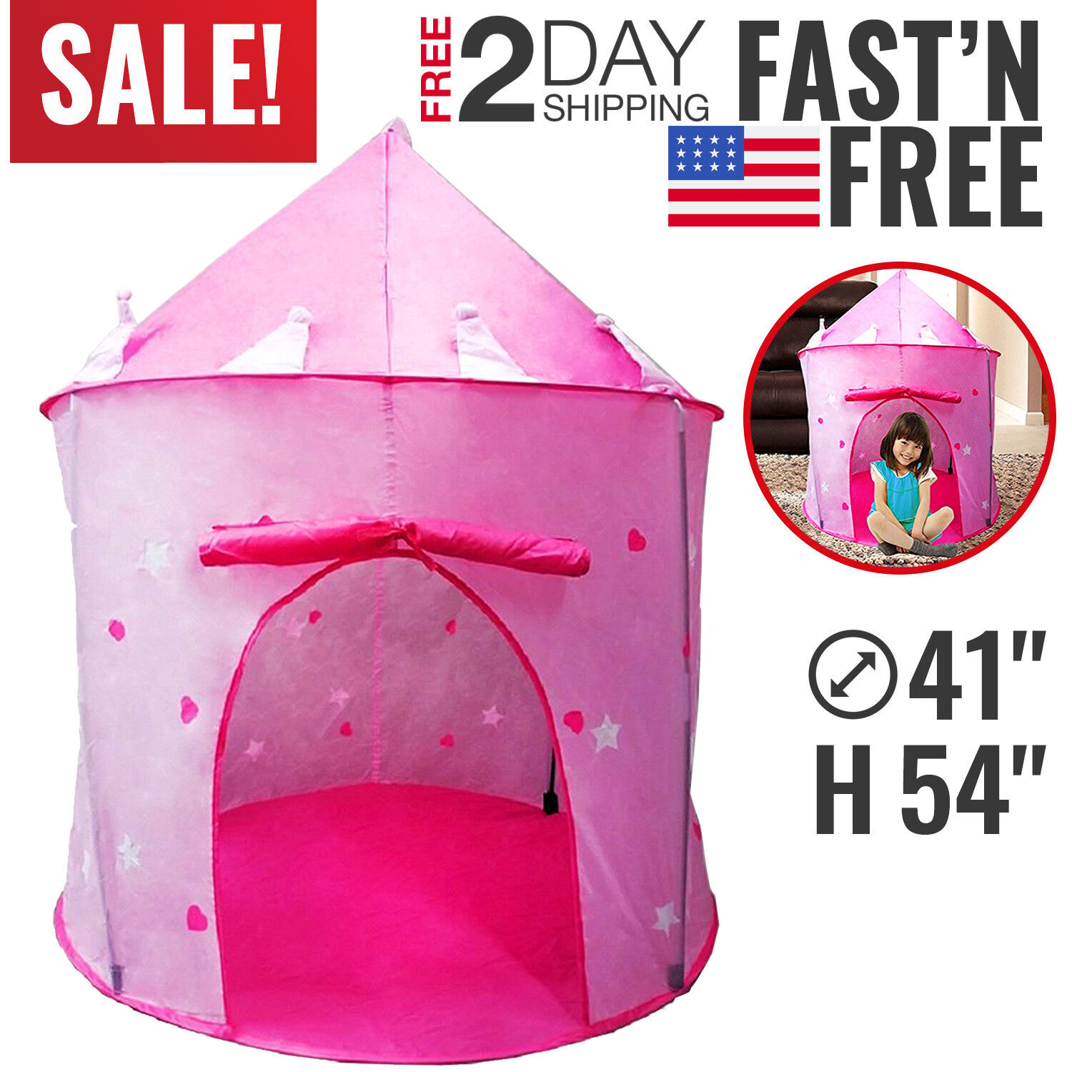 Toys For Girls Play Tent Kids Toddler 4 5 6 7 8 9 Year Old Age Girls Cool Toy  sc 1 st  eBay : girl play tent - memphite.com