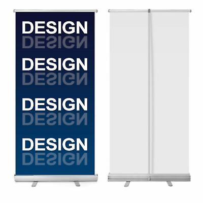 New Retractable Pull Up Banner Stand 33 With Printing - Price Reduced