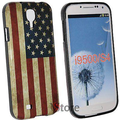 Cubierta De La Caja Para Samsung Galaxy S4 i9500 Bandera América Retro rígido segunda mano  Embacar hacia Argentina