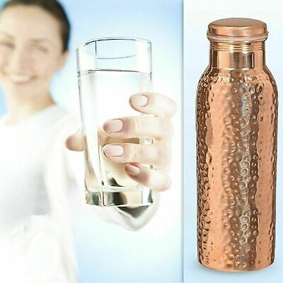 900 ml Pure Copper Water Bottle For Ayurveda Health Benefits size