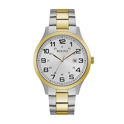 Bulova Men's Quartz Gold and Silver Tone 42mm Bracelet Watch 98B304