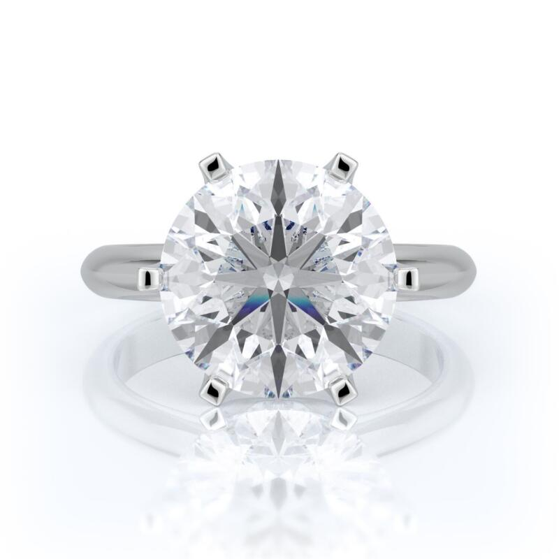 5 Carats G Si1 Round  Diamond Solitaire Engagement Ring 14k White Gold