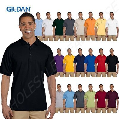 NEW Gildan Mens Ultra Cotton Ringspun Pique Sport Shirt Polo Tee S-3XL M-G380 Cotton Pique Sport Shirt