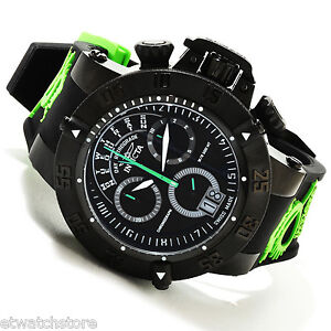 @NEW Invicta Men's Subaqua Noma III Swiss Quartz Chronograph Green SAN 3 10187
