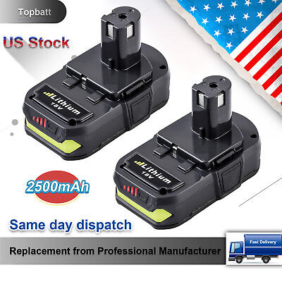 2x NEW For P108 Ryobi 18V One Plus Lithium-Ion Upgraded 2.5Ah Battery P104 P105