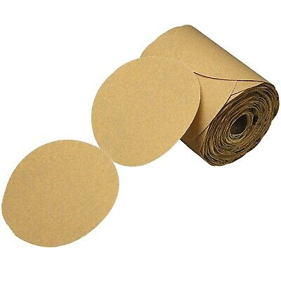 3M 01420 Stikit Gold Paper 5 in. P320 Grit Sanding Disc Roll (175 Discs)