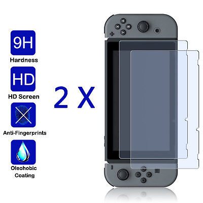 For Nintendo Switch Premium Tempered Glass Screen Protector (2 Pack)
