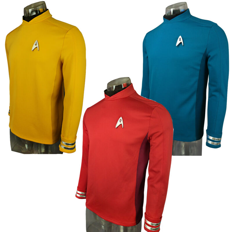 Cosplay Star Trek Beyond Red Captain Kirk Uniform Spock Blue Uniform Scotty Red
