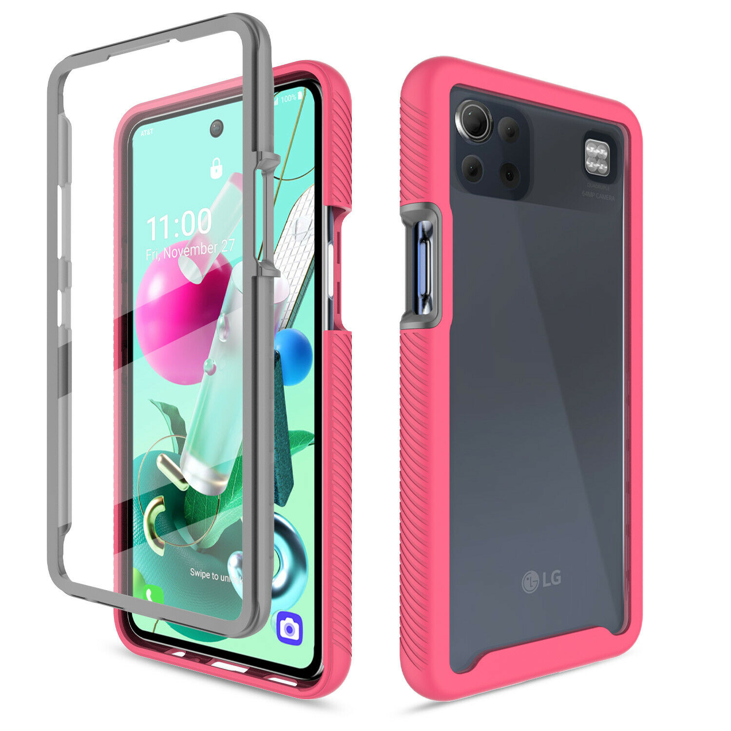 For LG K92 5G Case Shockproof Full Body Phone Cover W/ Built-In Screen Protector Cases, Covers & Skins