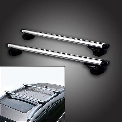 "Adjustable 48"" Car SUV Aluminum Roof Racks Crossbar Top Carrier Rail With Lock"