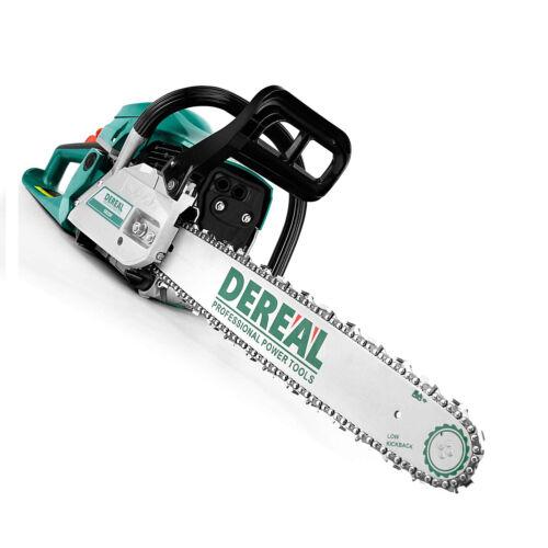 "62cc Gas Chainsaw 20"" Gasoline Powered Chain Saws Engine Cutting Handheld 2Cycle"