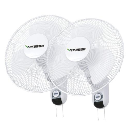 "VIVOSUN 2 Packs 16"" inch 3-Speed Oscillating Wall Mount Fan"