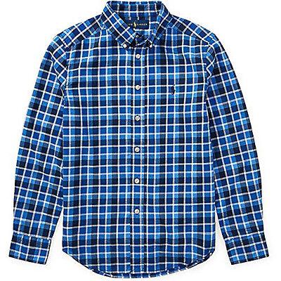 Polo Ralph Lauren Boys' 2T-20 Long Sleeve Plaid Twill Button Down Shirt