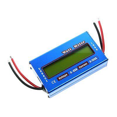 Digital Lcd Watt Meter Battery Balance Ammeter Amp Analyzer 60v 100a Dc Rc Volt