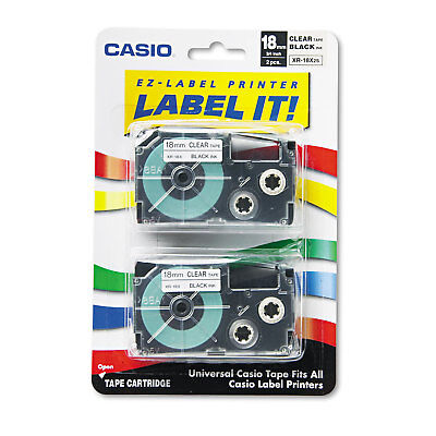 Casio XR-18X2S 18mm Labelling Tape