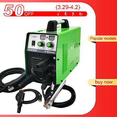 Mig Welding 150a Gasno Gas 110220v Flux Core Arc Stick Mma Inverter Welder Us