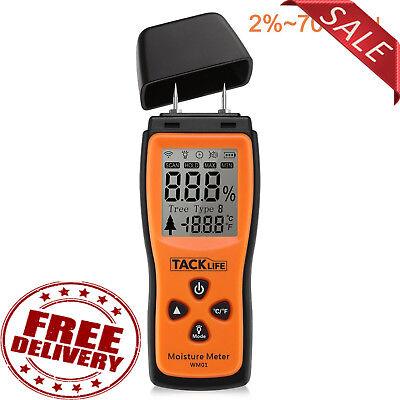 Wood Damp Meter Digital Moisture Detector Humidity Caravan Tester Lcd Trees Test