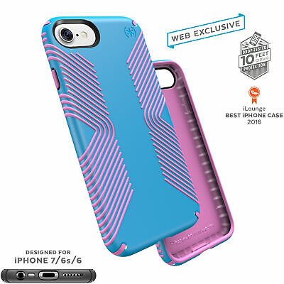 Speck Presidio Grip Classic Edition iPhone 7 Cases Neptune Blue/Popsicle Pink Classic Cell Phone Case