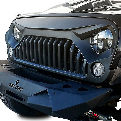 Upgrade Angry Bird topfire Front Matte Grill Grille For Jeep Wrangler 07-17 JK