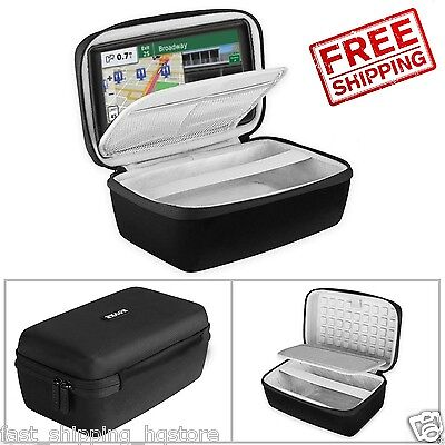 Gps Case 5 Inch Hard Shockproof Shell Carrying Travel Bag Garmin Nuvi Tomtom New