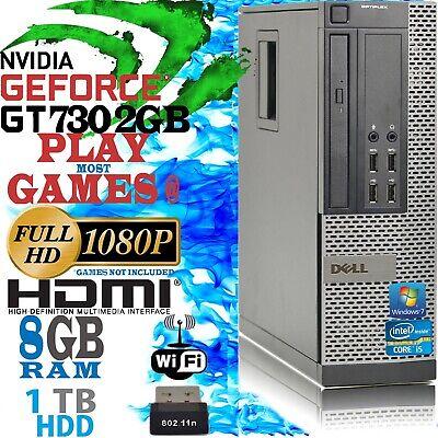 Schnell Dell Quad Core i5 Gaming Computer 8gb 1TB Wifi Gt 730 2gb Günstig