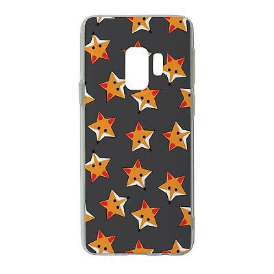 FOR SAMSUNG GALAXY S9 SILICONE CASE FOXES STARS GREY PATTERN S974