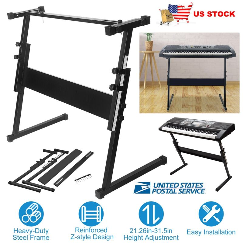Adjustable Keyboard Electric Piano Z-Stand Iron Standard Foldable Rack Stands US