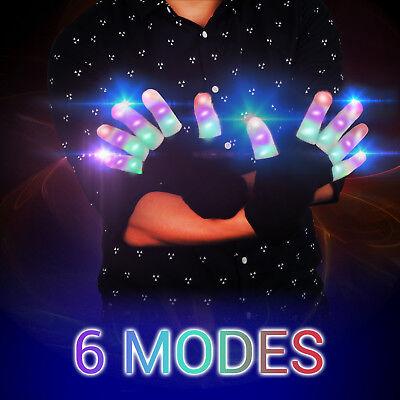 Top LED Handschuhe Leuchtenden Coole Spielzeuge Gloves Party Halloween Club