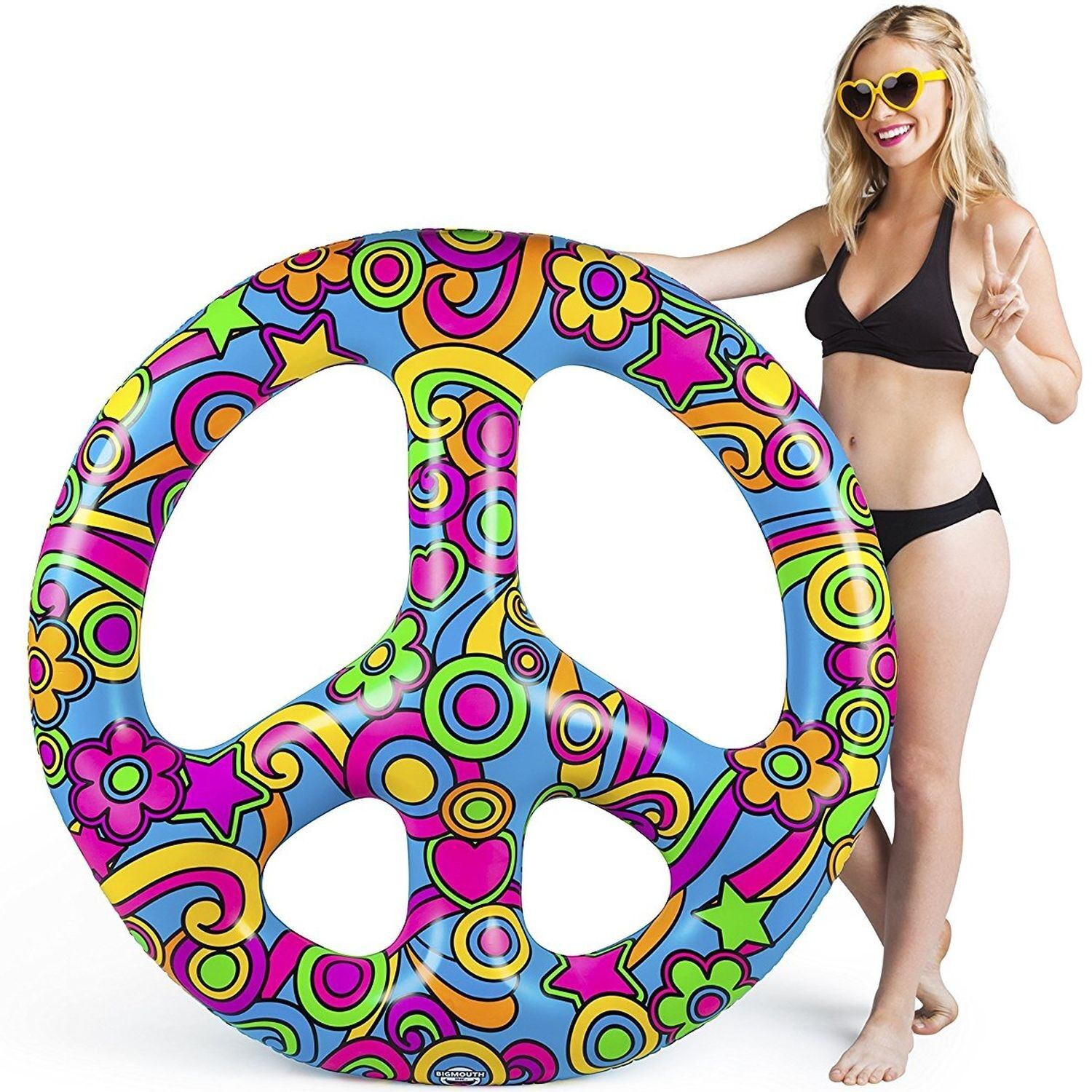 Big Mouth Inc Giant Peace Sign Pool Float - 4 foot