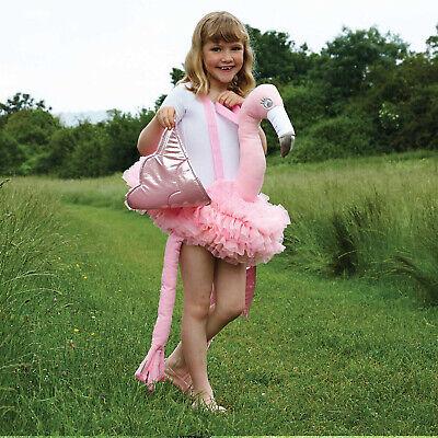 Halloween Kostüm Flamingo zum umhängen Einheitsgröße Kinder Plüschtier  neu