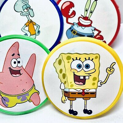 Spongebob Cupcake Toppers (Spongebob Squarepants Cupcake Toppers Party Favors Rings Party Supplies - 20)