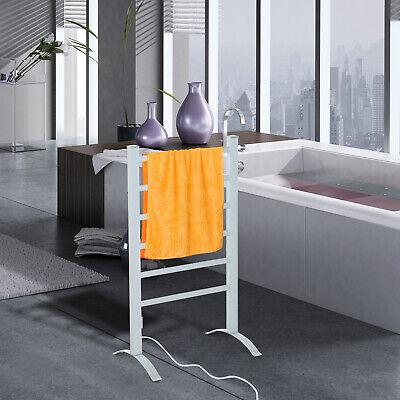 HOMCOM Beheizte Handtuchhalter Handtuchheizkörper Handtuchwärmer 6 Heizstäbe