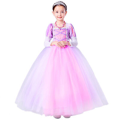 Halloween Disney Fancy Dress Party Costume Cosplay Rapunzel Princess Holiday