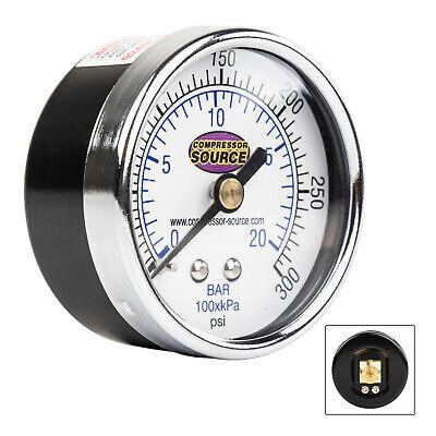 Quality 0-300 Psi Air Pressure Gauge 14 Npt Center Back Mount Cbm 2 Face