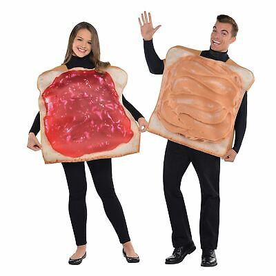 Peanut Butter Jelly Jam Tunics New Fancy Dress Couples Costume Food Sandwich (Halloween Food Sandwiches)