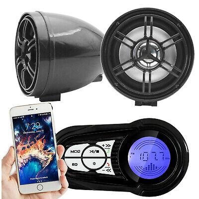 Waterproof Bluetooth Motorcycle Audio Amplifier Stereo Speaker System MP3 USB/SD segunda mano  Embacar hacia Mexico