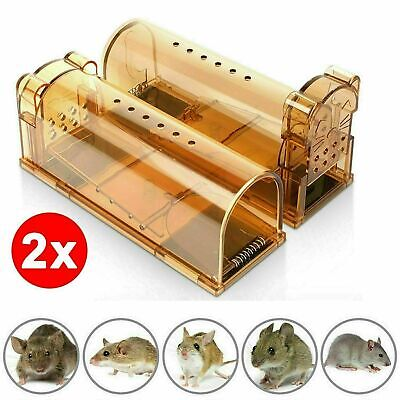 2X Reusable Humane Mouse Trap No Kill Rodent Catch Live Cage Pet Child Safe UK
