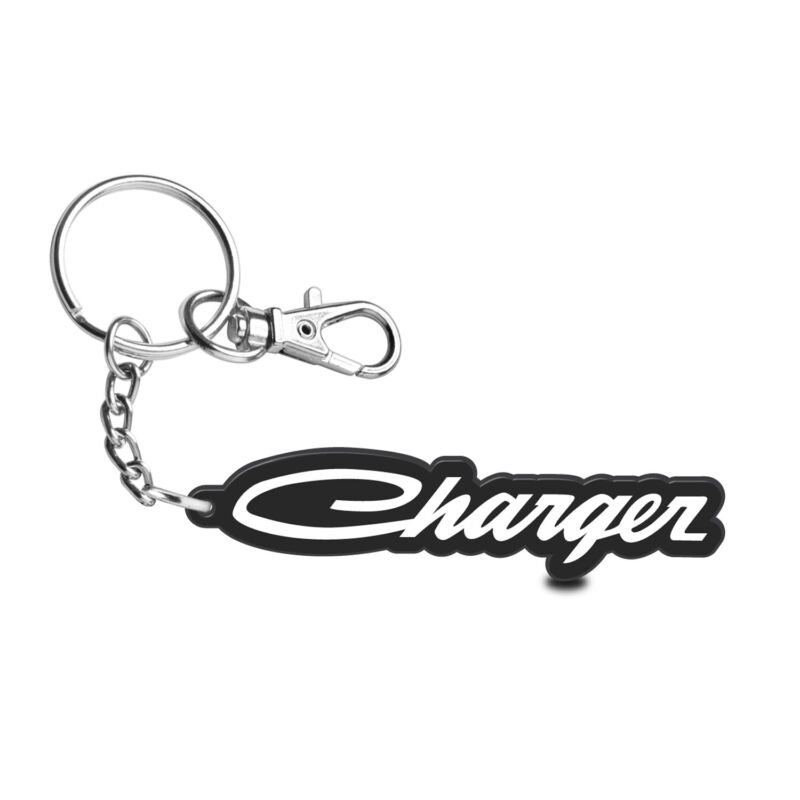 Dodge Charger Classic Laser Cut Full-Color Printing Acrylic Charm Key Chain