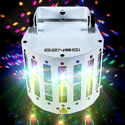 LED + Laser Sound Active Laser Projector DMX512 RGBWY Strobe Stage Light DJ