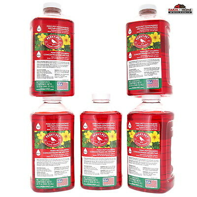 (5) Wild Hummingbird Nectar Food For Feeder 32oz Red Concentrate ~ New 32 Ounce Red Nectar