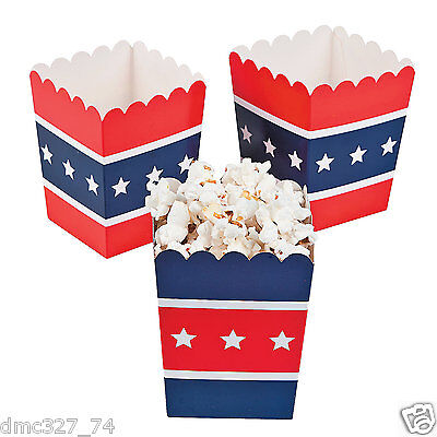 (24) 4th of July Summer Patriotic Election Party Favor MINI Paper Popcorn - 4th Of July Paper Products