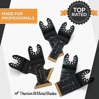 Ryker Hardware - 6 Piece Bimetal Titanium Oscillating Saw Blades