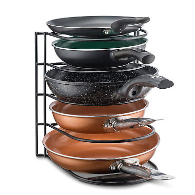 Kitchen Cabinet Pantry Pan and Pot Lid Rack Cookware Storage Organizer Holder
