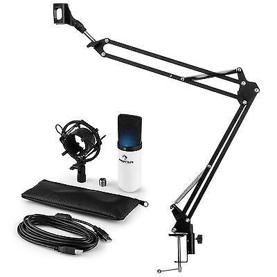 auna MIC-900WH-LED USB Mikrofonset V3 Kondensatormikrofon Mikrofonarm LED weiß 900 Usb