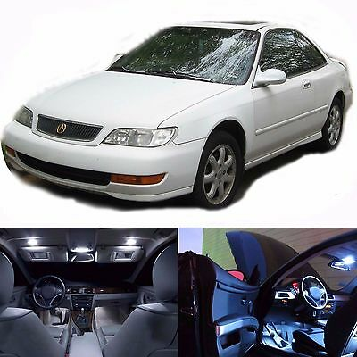 LED Lights Interior Package Kit For Acura CL 1997-2003 (13 Bulbs White)